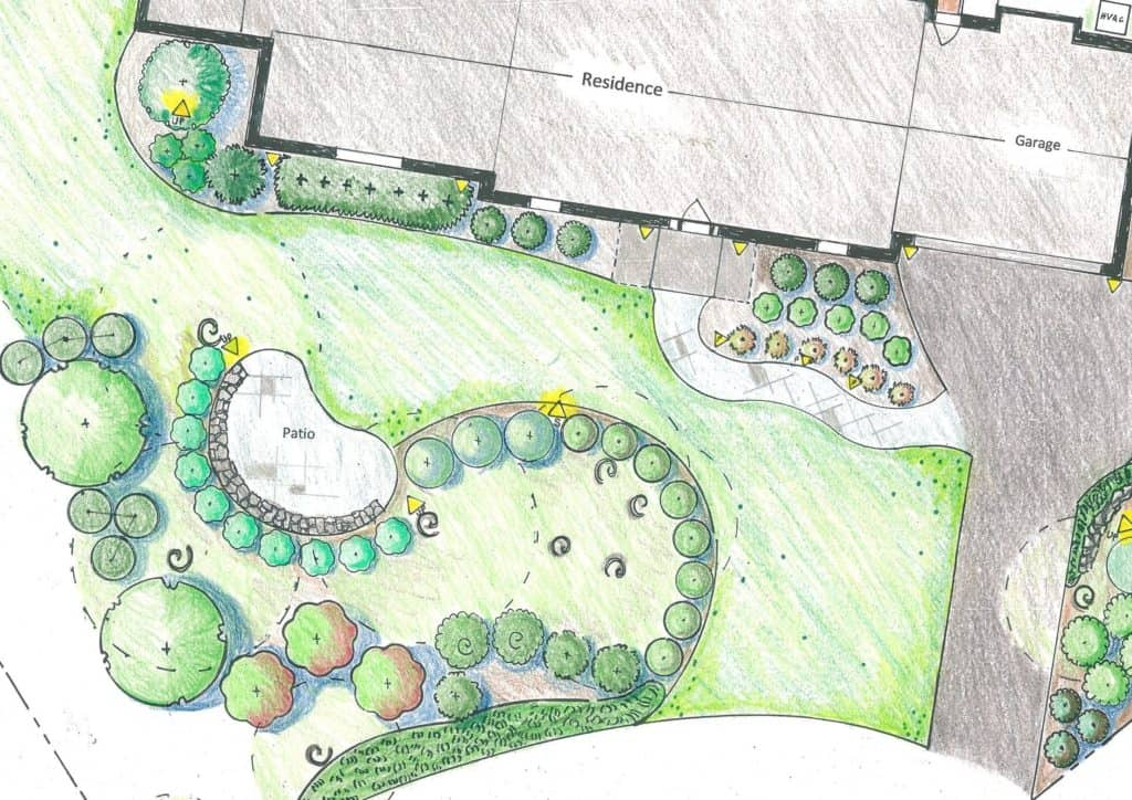 An example of how landscape design works before construction.