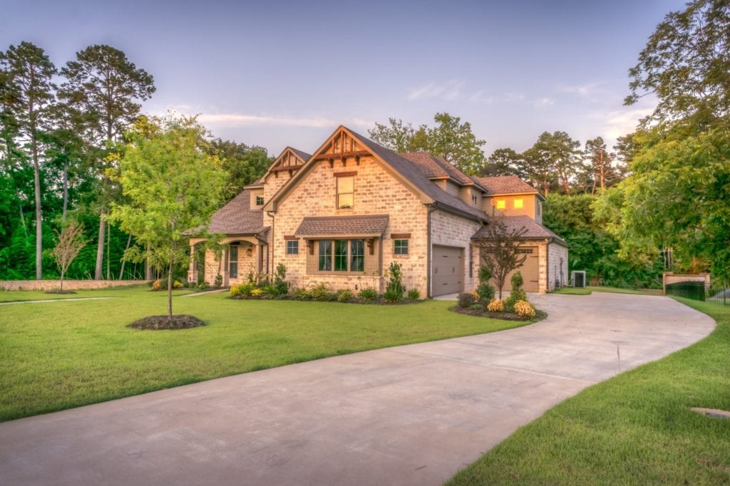 A property that receives residential lawn services.
